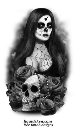Day Of The Dead Tattoos Free Tattoo Designs