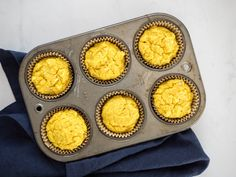 Savory Turmeric Cornbread Muffins with Sweet Corn and Spices   The Seasoned Vegetable