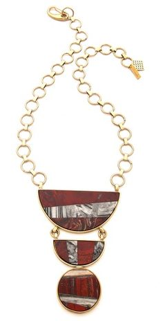 So gorgeous and will def make a statement! Kelly Wearstler Bruno necklace.