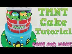 How to make a TMNT birthday cake tutorial Bake and Make with Angela Capeski How to make a cake - YouTube