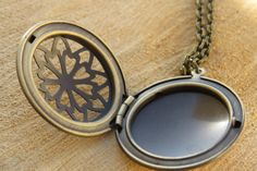 Long necklace  Locket necklace  Antique bronze  by RomisJewelry, $29.00