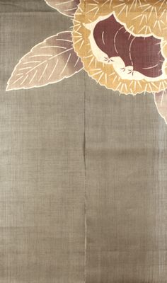 Japanese Noren Curtain-Kuri (Chestnut)