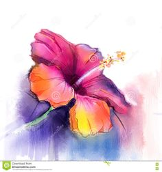 Image result for purple watercolor flowers