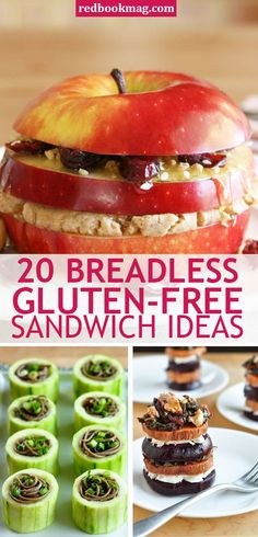 BREADLESS, GLUTEN-FREE SANDWICHES: These wheat-less, wholesome, and oh-so-filling sandwich ideas and lunch recipes will make you rethink lunchtime! Find the tastiest and easiest sandwich ideas here! Y (Sandwich Recipes For School) Gluten Free Picnic, Vegan Gluten Free, Gluten Free Recipes, Dairy Free, Gluten Free Lunch Ideas, Scd Recipes, Tee Sandwiches, Healthy Sandwiches, Lunch Recipes