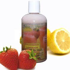 STRAWBERRY LEMONADE Organic Body Wash - No Synthetic Fragrance Oils - Real Fruit - No SLS - Non Toxic - 8 oz