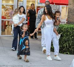 Kim Kardashian goes braless for daughter North's 4th birthday