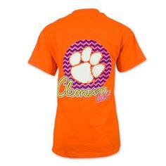 "Clemson Tigers Chevron ""Clemson Girl"" Ladies'  T-Shirt #clemson"