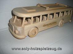 Bussen Holzspielzeug mit Gravur