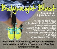 A Daily Dose of Fit: Bodyweight Blast #workoutwednesday
