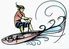 One of my surf art drawings Andoni Galdeano