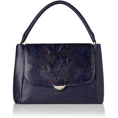 L.K. Bennett Freya Snake Effect Shoulder Bag ($500) ❤ liked on Polyvore featuring bags, handbags, shoulder bags, l.k.bennett, blue shoulder bag, l k bennett handbags, snake handbag and blue handbags