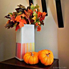 DIY Autumn Crafts: DIY Fall Crafts :DIY Fall-Inspired Ombre IKEA Lamp