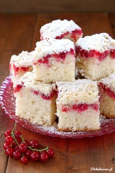 Red Currant and Crumble Yeast Cake.