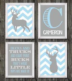 Boys nursery decor deer nursery decor hunting by customedgestudio