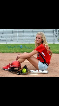 Softball senior picture idea