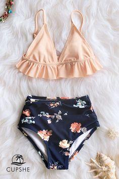 Pink Ruffled Bikini with High Waist Bottom for Toddler Girls and Girls Bathing Suits Bikini Bottom Girls high pink Ruffled Toddler waist Bathing Suits For Teens, Summer Bathing Suits, Swimsuits For Teens, Bathing Suit Bottoms, Cute Bathing Suits, Bathing Suits One Piece, Summer Suits, Cheeky Swimsuits, Bikini Swimwear