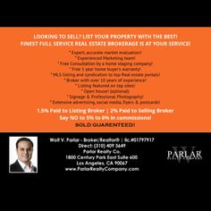 List any Real estate with Parlar Realty Company for 1.5% - visit www.ParlarRealtyCompany.com