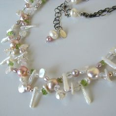 Lacey Pearls sterling necklace by LibertyOriginals on Etsy, $48.00