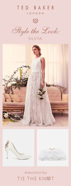 Style the look: The picture of elegance, SILVYA is all about subtle details. Ted Baker Fashion, Dream Wedding, Wedding Day, Tie The Knots, Bridal Boutique, Bridal Collection, Well Dressed, Beauty Skin, Tb Test