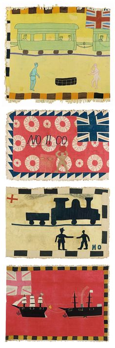 Africa | Four Fante Asafo flags from Ghana | Cotton appliqué | Sotheby's; Alistair McAlpine Textiles