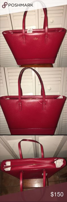 "Kate Spade Handbag Medium size ""Harmony Grandstreet"" handbag. Color: Pillbox Red. kate spade Bags"