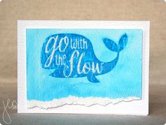 Go With The Flow, with @heroarts and @timholtz distress inks & watercolor paper