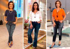 Clássico e elegante são as palavras de ordem no visual da apresentadora em seu programa matinal