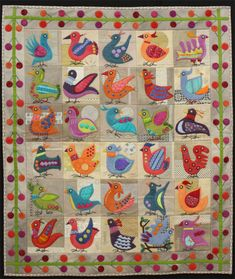 The Birds, Karin Malmberg.  Design by Sue Spargo.  2014 Canberra Quilters Guild (Australia).