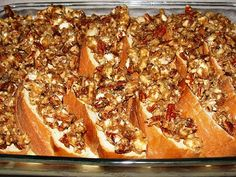 Paula Deen's praline french toast casserole - make the night before - super simple & yum! Christmas morning breakfast!