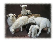 Needle felted Sheep and Lambs