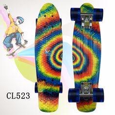 """2016 22"""" Multi Banana Board color mixed Cruiser Skateboard Retro Mini Skate Long Board Small Plastic Longboard Complete Skates"""