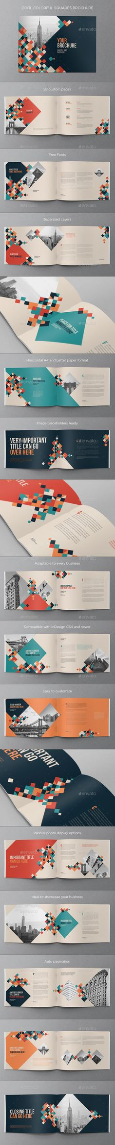 Cool Colorful Squares Brochure Template InDesign INDD. Download here: http://graphicriver.net/item/cool-colorful-squares-brochure/16872691?ref=ksioks