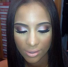 Cyn Santana's flawless makeup. Perfect for prom or for a wedding