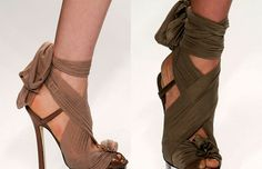 reuse pantyhose- put them on shoes