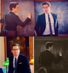 I would be distracted all the time Neal Caffrey, Matt Bomer, White Collar, Man Alive, Sexy Men, Perfect Fit, Inspiration, Teacher, Fictional Characters