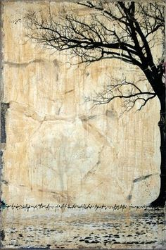 untitled (part of tree 10021) ~ mixed media on canvas ~ by hyena
