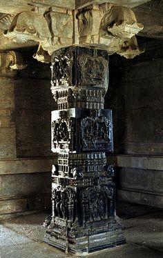 Hampi - Hazara Rama Temple - Basalt Pillar