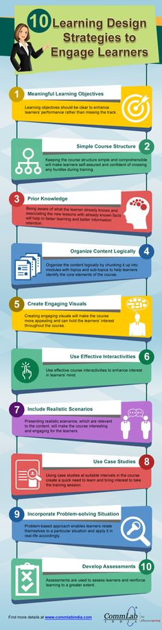 10 Learning Design Strategies to Engage Learners [Infographic]