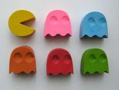 Pacman Crayons (6 per packet) $8.00 felt.co.nz