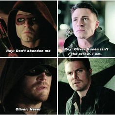 Arrow - Oliver & Roy<<< Just no. I almost cried at both those parts now there together in the same thing! I'm gonna die
