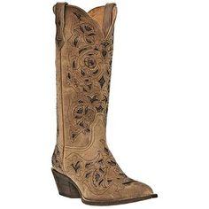 Laredo Women's Crazyhorse Cutout Western Boots