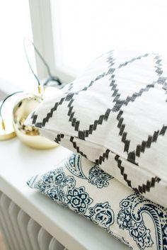 magnoliabymia | Chhatwal & Jonsson pillows | Bolia brass lamp