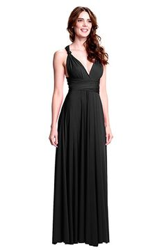 Sakura Long Convertible Dress- Love the convertible dresses all the bridesmaids can wear the same dress different ways to suit their body.