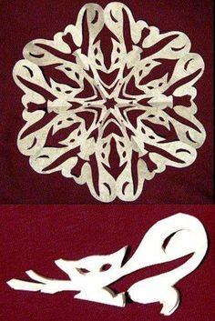 Wonderful DIY Paper Snowflakes With Pattern Paper Snowflake Patterns, Snowflake Template, Paper Snowflakes, Snowflake Designs, Christmas Snowflakes, Kirigami, Paper Cutting, Unique Coloring Pages, Paper Art