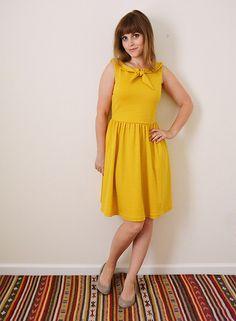 Colette Moneta Dress with Tie Collar by MissMake, via Flickr