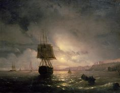 Harbour at Odessa on the Black Sea 1852 Painting