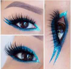 Eye Kandy Sour Blast and Shock Tart for this gorgeous double winged eyeliner www.eyekandycosmetics.com