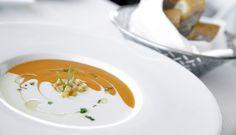 Las Vegas Fine Dining Menus | Alize' - Chilled Vichyssoise & Tomato Soup