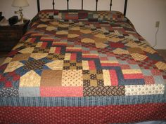 Patchwork Stars Quilt by MountainQuilts on Etsy, $375.00