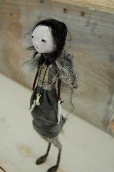 """Arya Stark"" (Game of Thrones) doll created by Melanie Ashton of Anthropomorphica Art Doll Oddities (anthropomorphica @ etsy.com) (© 2012)."